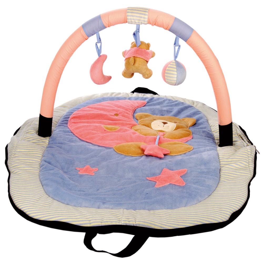 Cestovní hrací deka s hraz.- medvídek