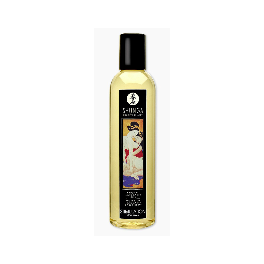 Erotický masážní olej Shunga Stimulation Peachs 250ml