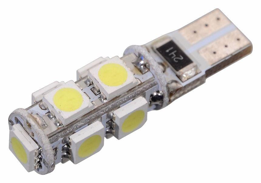 Žárovka 9 LED CAN-BUS ready s rezistorem - bílá, 12V