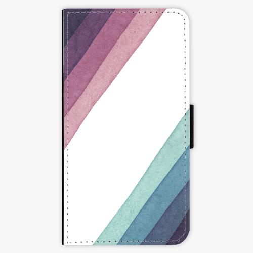 Flipové pouzdro iSaprio - Glitter Stripes 01 - iPhone X
