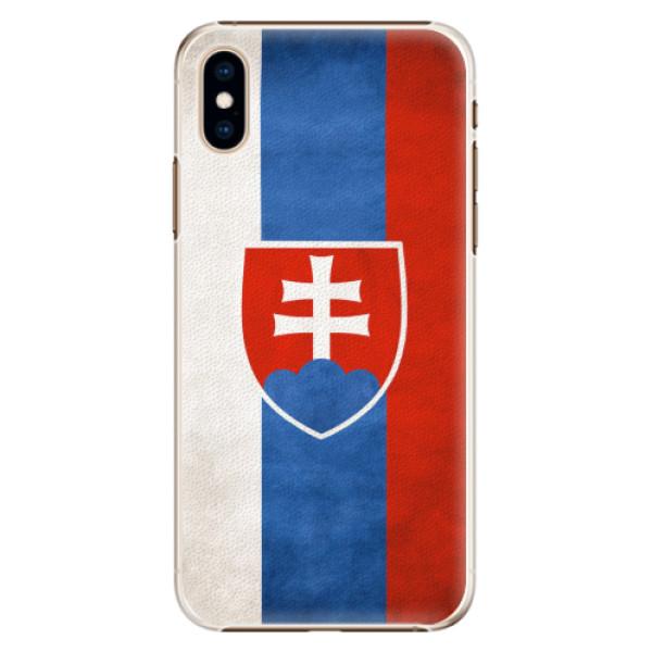Plastové pouzdro iSaprio - Slovakia Flag - iPhone XS