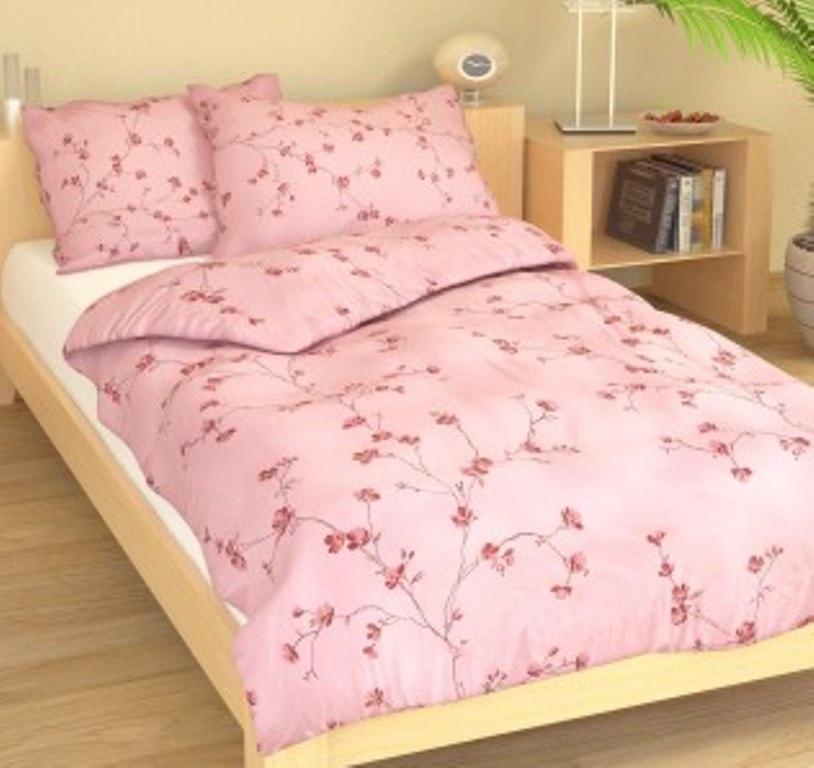 Povlak bavlna 70x90cm Drobné kvítky růžové - poslední 1ks