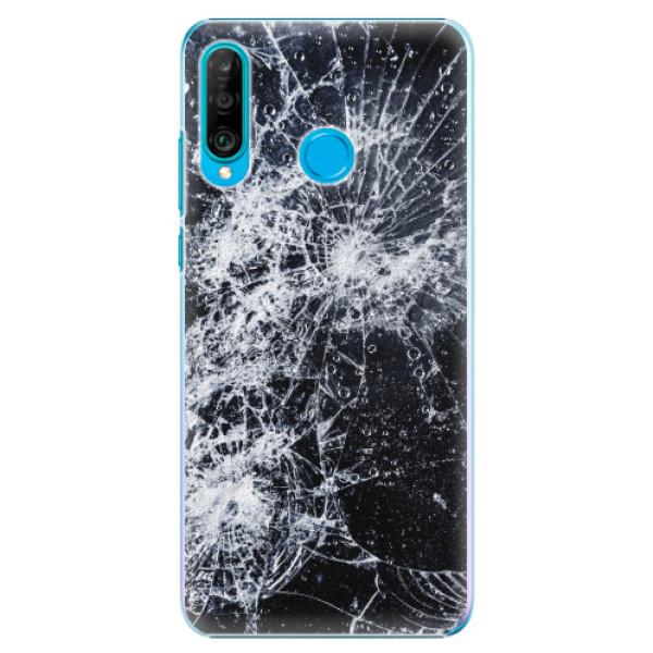 Plastové pouzdro iSaprio - Cracked - Huawei P30 Lite