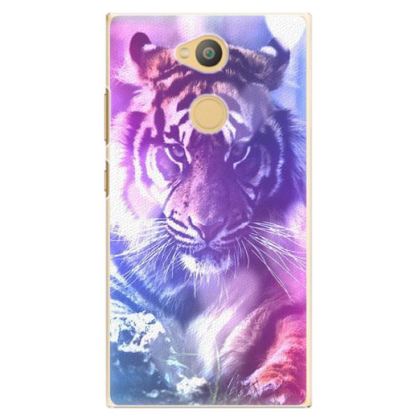Plastové pouzdro iSaprio - Purple Tiger - Sony Xperia L2