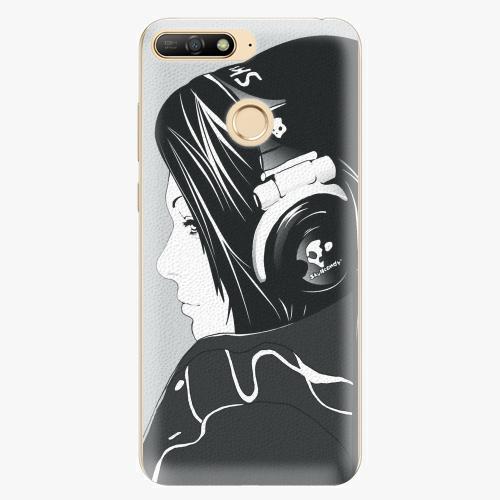 Silikonové pouzdro iSaprio - Headphones - Huawei Y6 Prime 2018