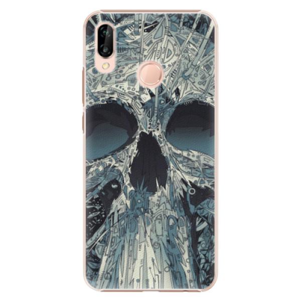 Plastové pouzdro iSaprio - Abstract Skull - Huawei P20 Lite