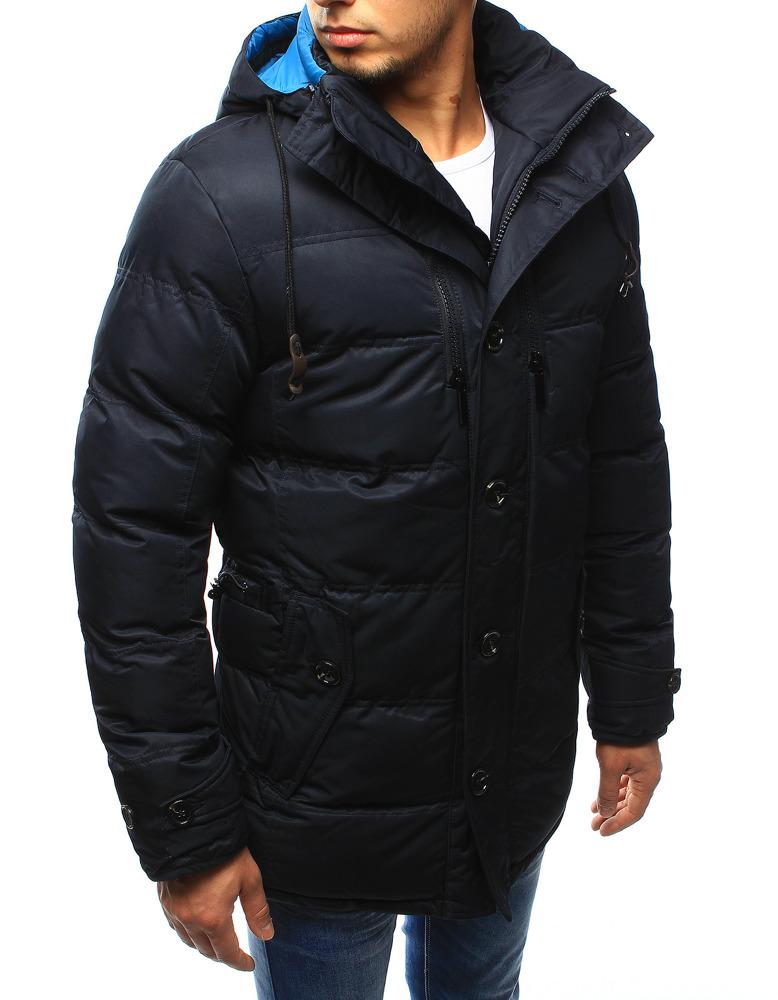 Pánská zimní prošívaná bunda s kapucí EW-415 (tx1978) - EW-Club - Černá/M