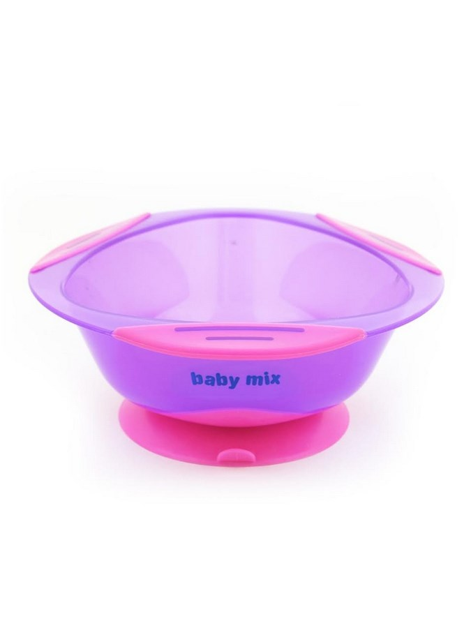 Dětská protiskluzová miska Baby Mix - fialová