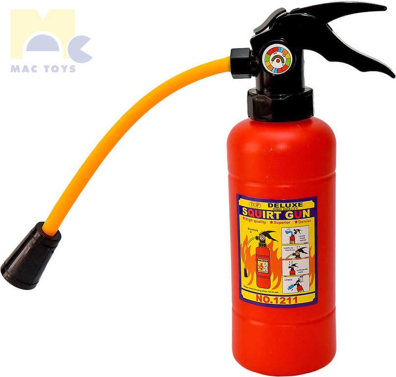 MAC TOYS Přístroj hasící vodní dělo 29cm hasičák 2v1 plast