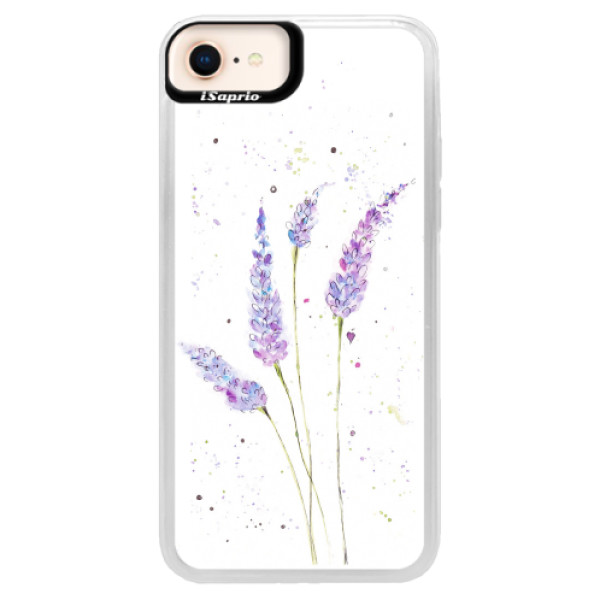 Neonové pouzdro Blue iSaprio - Lavender - iPhone 8