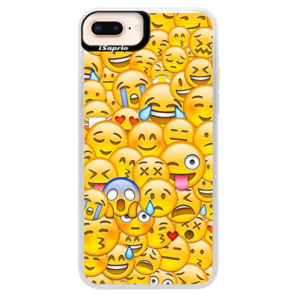 Neonové pouzdro Pink iSaprio - Emoji - iPhone 8 Plus