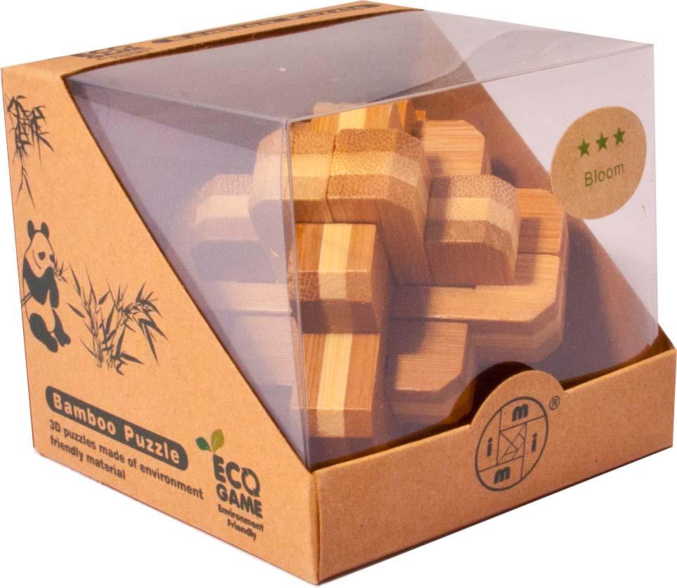 Bambusový - hlavolam - Kříž