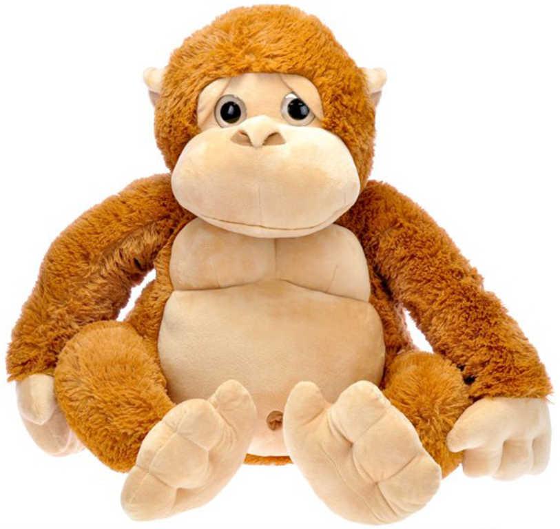 PLYŠ Opice hnědá sedící 65cm *PLYŠOVÉ HRAČKY*