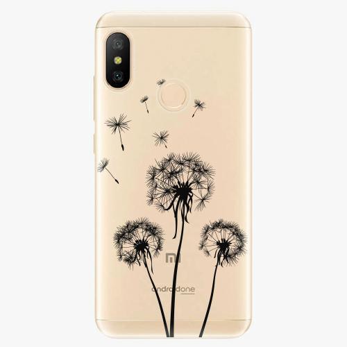 Silikonové pouzdro iSaprio - Three Dandelions - black - Xiaomi Mi A2 Lite