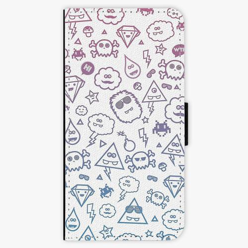 Flipové pouzdro iSaprio - Funny Clouds - Nokia 6