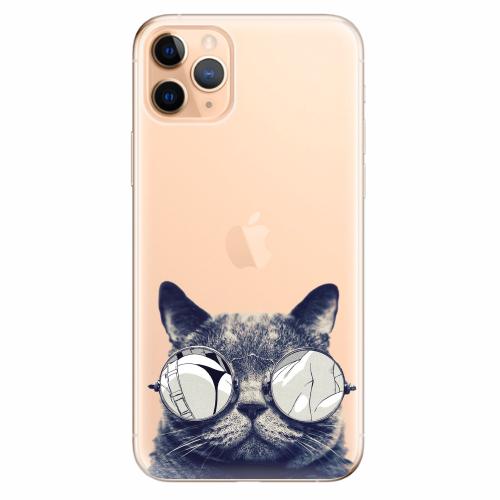 Silikonové pouzdro iSaprio - Crazy Cat 01 - iPhone 11 Pro Max