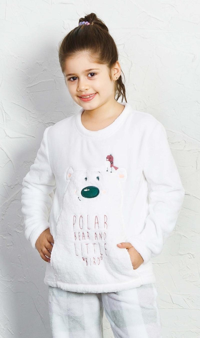 Dětské pyžamo dlouhé Polar bear - Bílá