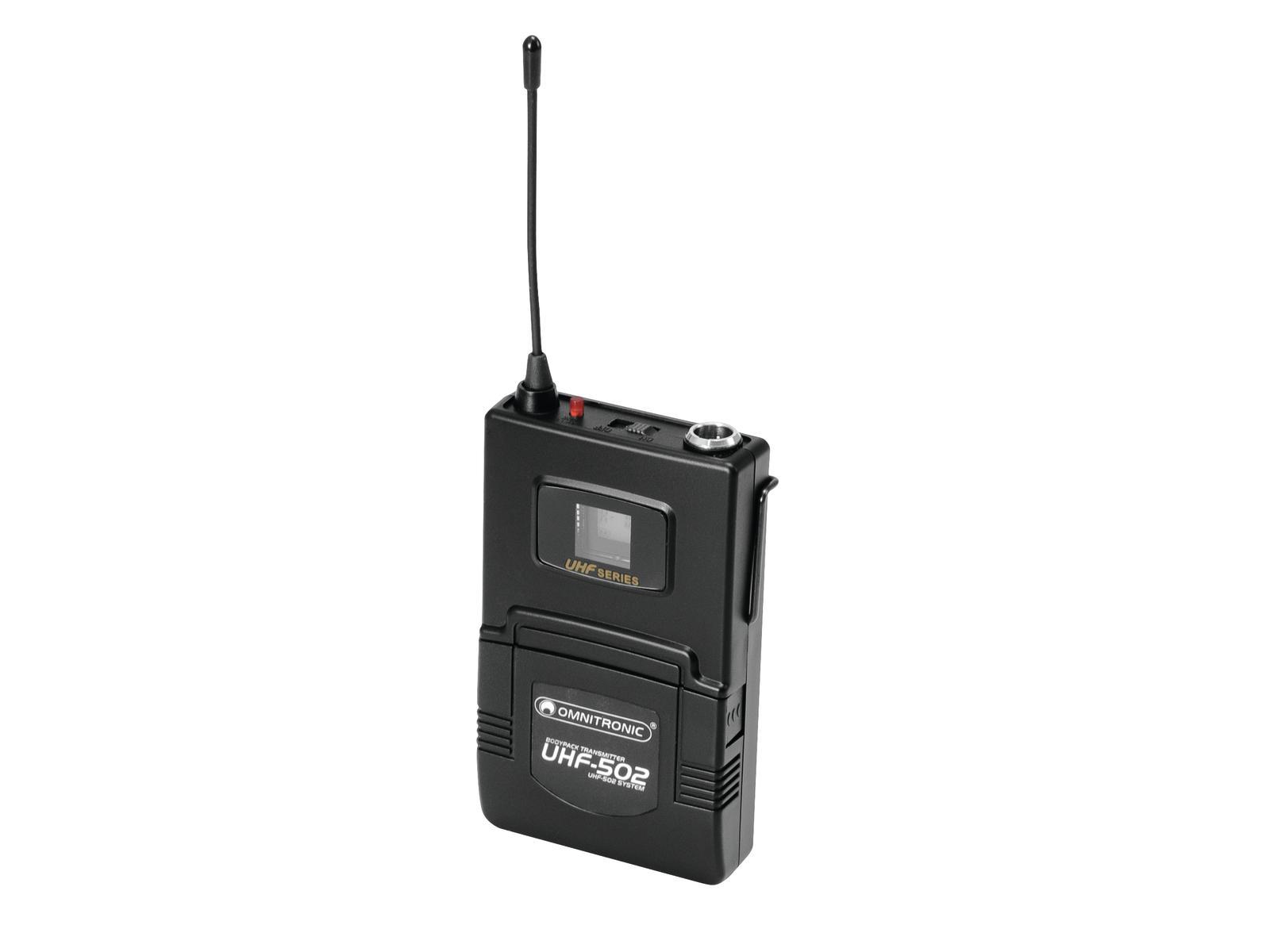 Omnitronic UHF-502 Bodypack incl. lavalier (CH B orange)