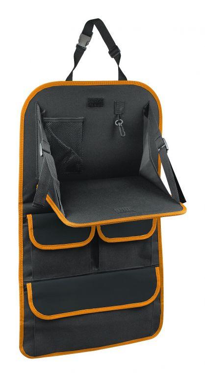 Organizér na přední sedadlo se stolkem - černá/oranžová