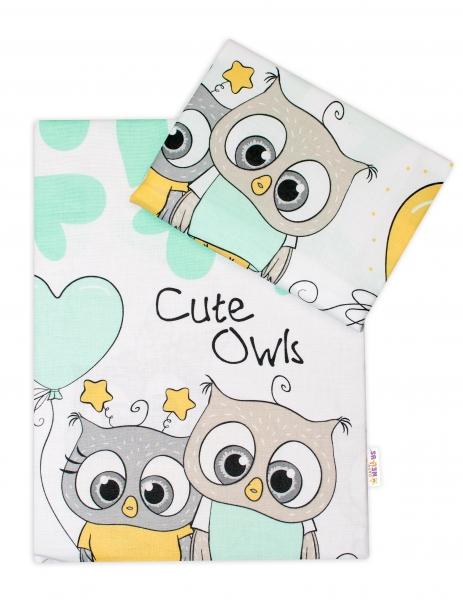 baby-nellys-2-dilne-bavlnene-povleceni-cute-owls-zelene-120x90