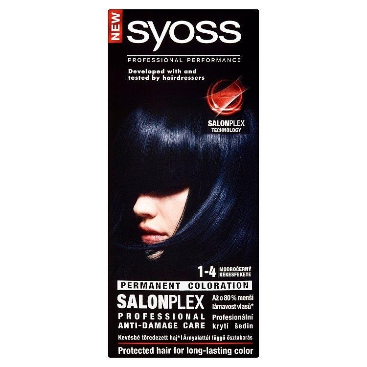 Barva na vlasy Modročerný 1-4