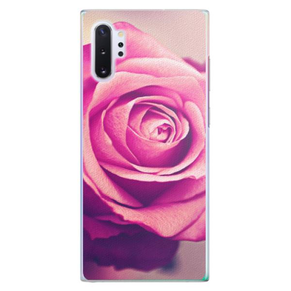Plastové pouzdro iSaprio - Pink Rose - Samsung Galaxy Note 10+