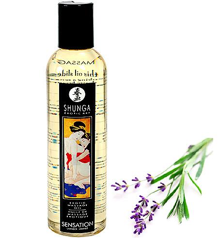 Erotický masážní olej Shunga Sensation Lavender 250ml