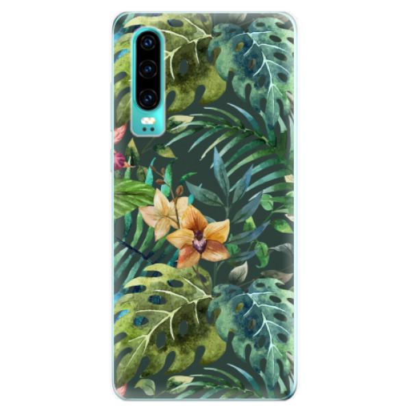 Odolné silikonové pouzdro iSaprio - Tropical Green 02 - Huawei P30