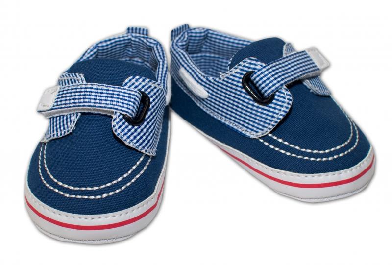 YO ! Kojenecké boty/capáčky námořnické - modré s