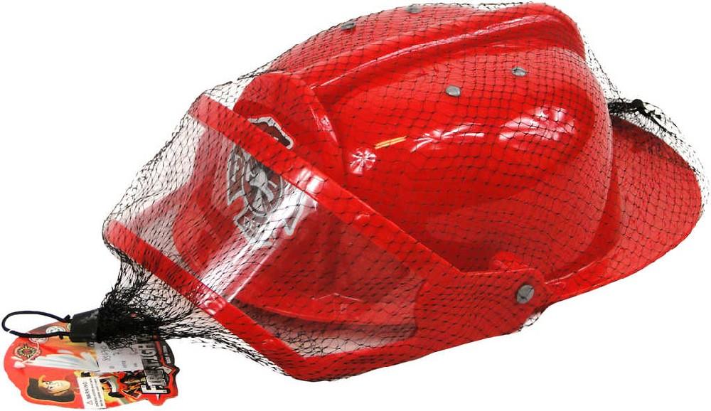 Helma dětská hasičská červená v síťce plast