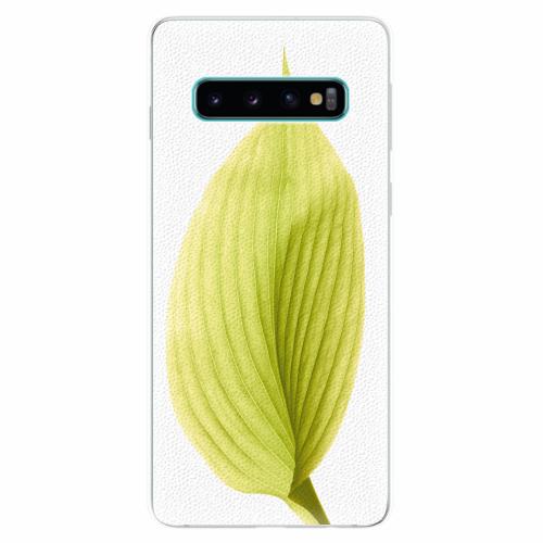 Silikonové pouzdro iSaprio - Green Leaf - Samsung Galaxy S10