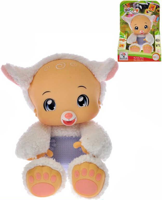 PLYŠ Zvířátko Zoopy Babies ovečka 24cm tlapky svítící ve tmě na baterie Zvuk