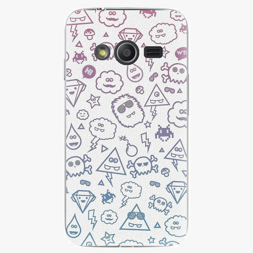 Plastový kryt iSaprio - Funny Clouds - Samsung Galaxy Trend 2 Lite