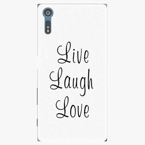 Plastový kryt iSaprio - Live Laugh Love - Sony Xperia XZ