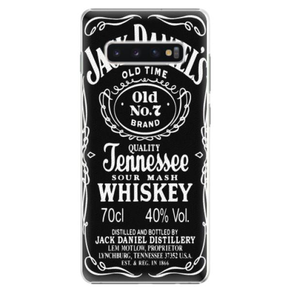 Plastové pouzdro iSaprio - Jack Daniels - Samsung Galaxy S10+