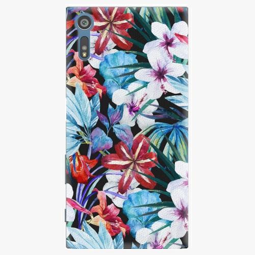 Plastový kryt iSaprio - Tropical Flowers 05 - Sony Xperia XZ