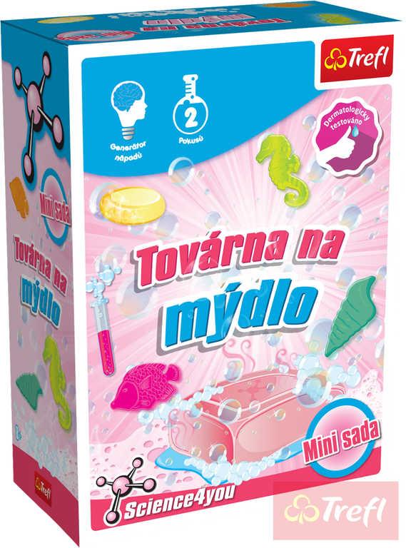 TREFL HRA Vědecká sada Výroba mýdla 2 pokusy Science 4 you mini v krabici