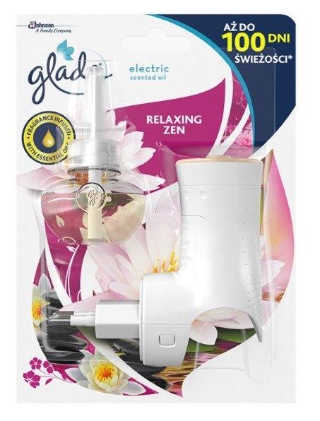 Glade Electric Scented Oil Relaxing Zen elektrický osvěžovač vzduchu strojek + náplň, 20 ml