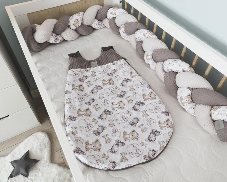 Baby Nellys Spací vak Vafel, bavlna LUX - Safari, 6-18m - 6/18měsíců