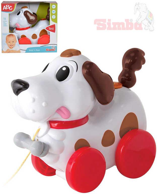 SIMBA Baby pejsek tahací vrtí ocáskem štěká malodie na baterie Světlo Zvuk