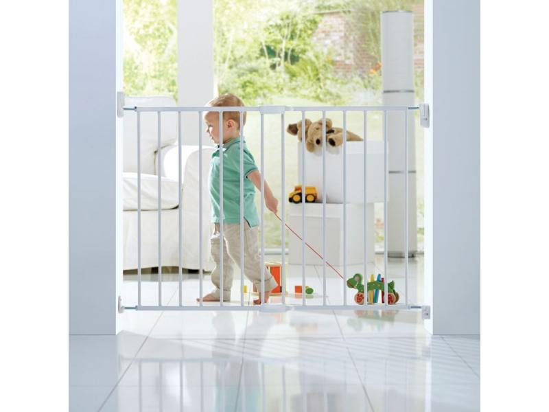 Lindam - Dětská zábrana s posuvnou šířkou kov bílá