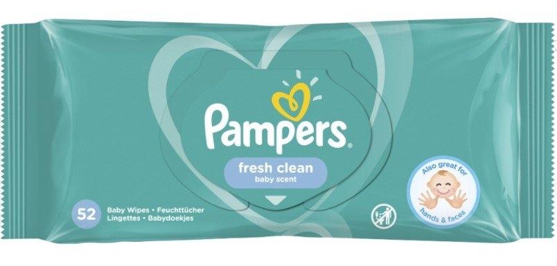 Pampers Baby Fresh Clean dětské čistící ubrousky, 52 ks