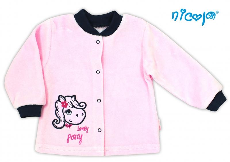 Košilka velurová LOVELY PONY - růžová - 80 (9-12m)