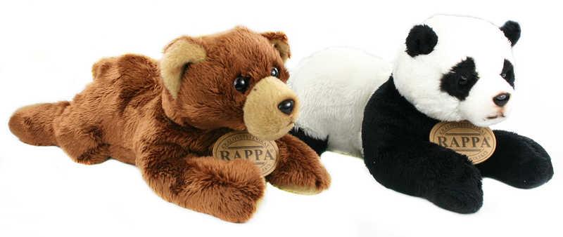PLYŠ Medvěd nebo Panda ležící 18 cm