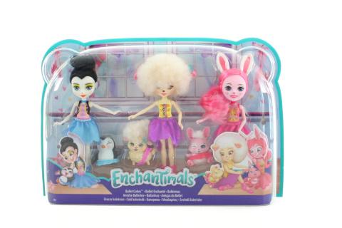 Enchantimals 3 ks baletka s mazlíčkem FRH55