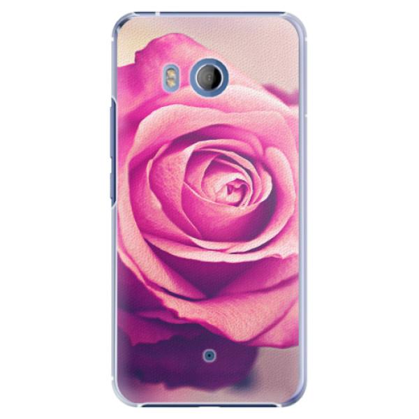 Plastové pouzdro iSaprio - Pink Rose - HTC U11