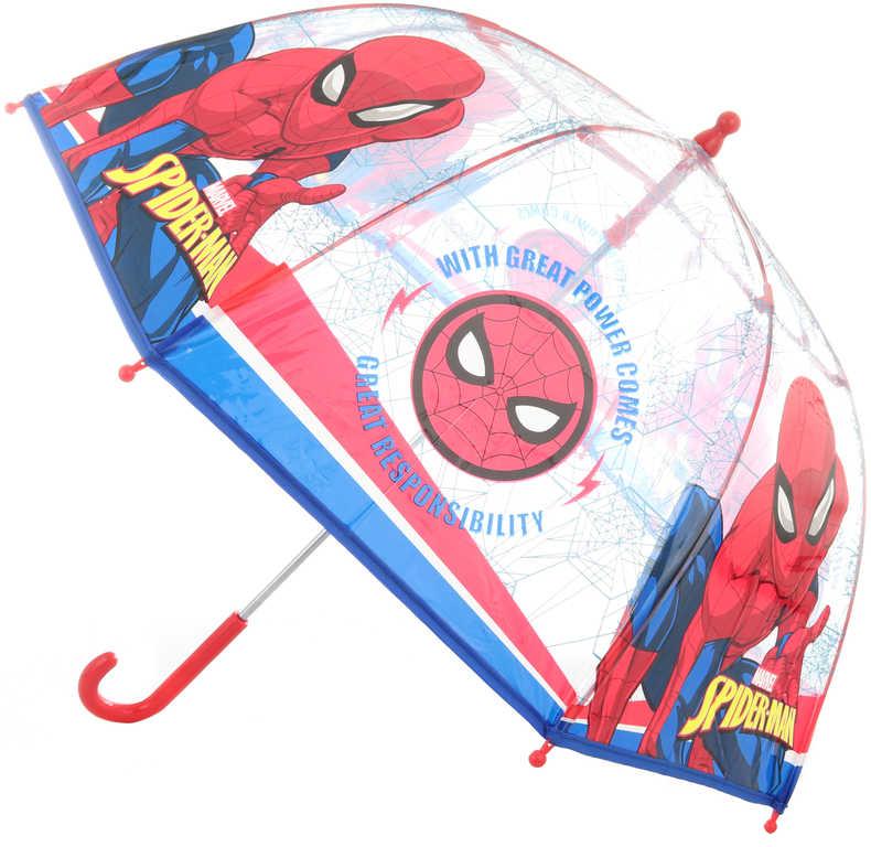 Deštník dětský Spiderman 70x70x64cm průhledný manuální