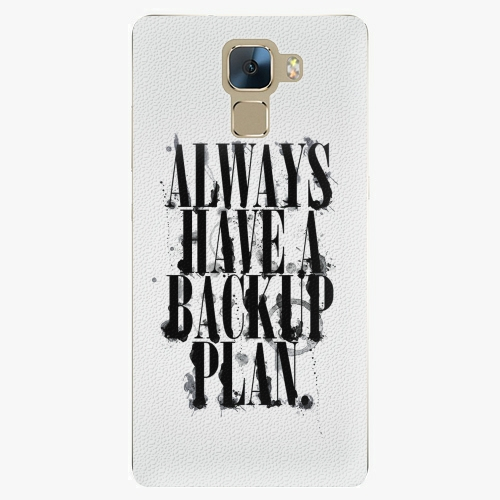 Plastový kryt iSaprio - Backup Plan - Huawei Honor 7