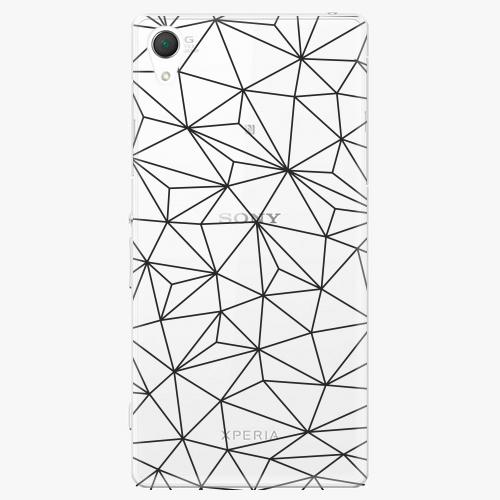 Plastový kryt iSaprio - Abstract Triangles 03 - black - Sony Xperia Z2
