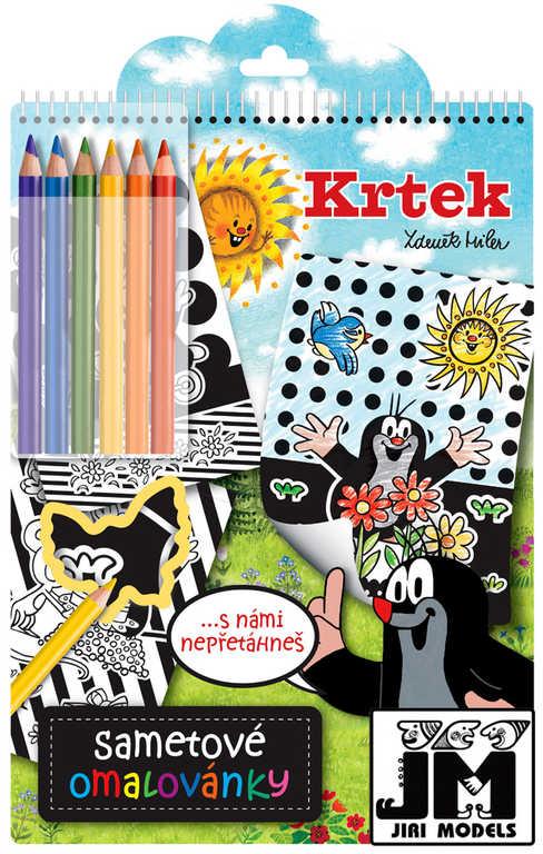 JIRI MODELS Omalovánky sametové s pastelkami KRTEK (Krteček)